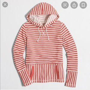 J few factory flip striped hoodie
